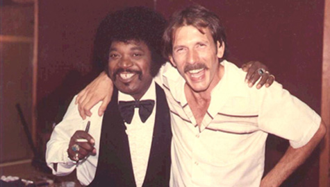 Percy Sledge and Chris Wells after a Blue Eyed Soul Revue gig